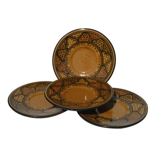 "Le Souk Ceramique Honey Design 7"" Saucers"
