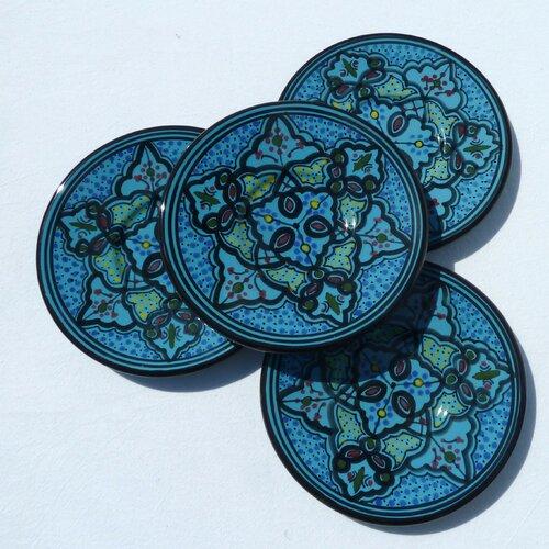 "Le Souk Ceramique Sabrine Design 7"" Saucers"