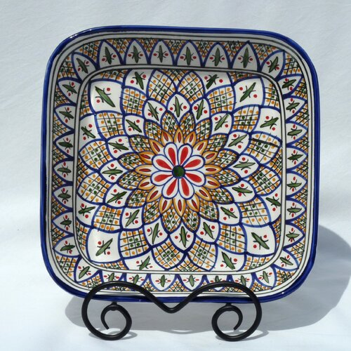 "Le Souk Ceramique Tabarka Design 12"" Serving Bowl"