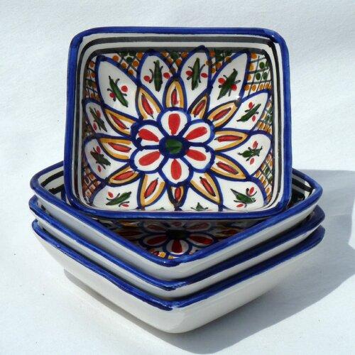 Le Souk Ceramique Tabarka Design Serving Dish (Set of 4)