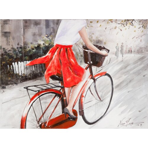 Moe's Home Collection Lady In Red Painting Print on Canvas