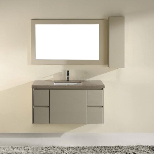 "Bauhaus Bath Barros Wall Mount 42"" Bathroom Vanity Set"