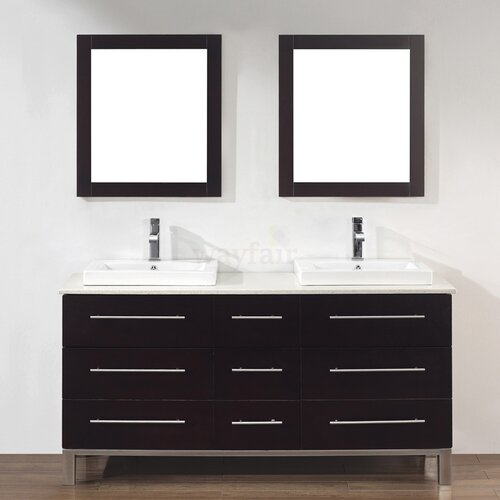 "Bauhaus Bath Kinsa 63"" Double Bathroom Vanity Set"