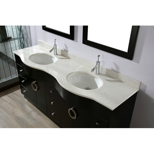 "Bauhaus Bath Zed 72"" Double Bathroom Vanity Set"