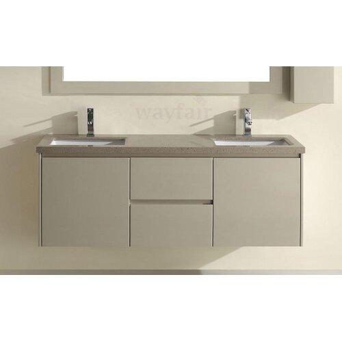 bauhaus bath barros 63 wall mount double bathroom vanity set