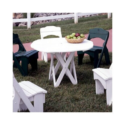 Uwharrie Chair Harvest Round Picnic Table