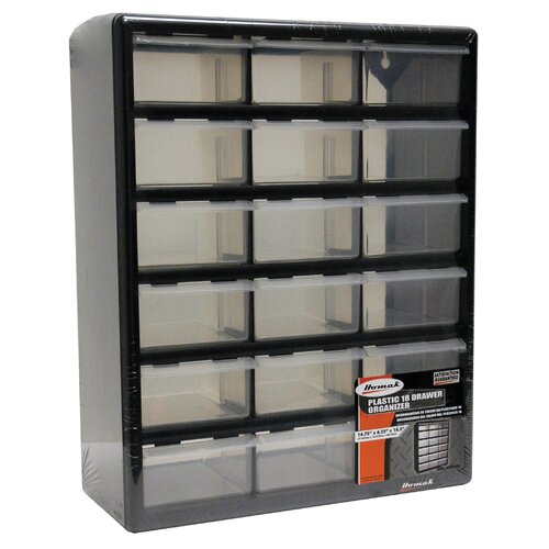 "Homak 15.75"" Wide 18 Drawer Middle Cabinet"