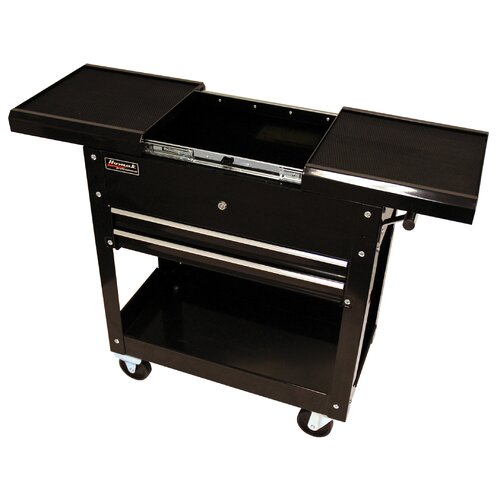 "Homak Professional 27.88"" Wide 2 Drawer Service Cart"