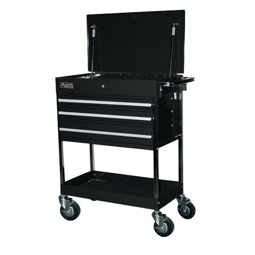 "Homak Professional 34"" Wide 3 Drawer Service Cart"