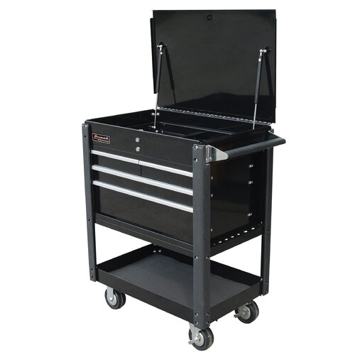 "Homak Professional 35"" Wide 4 Drawer Service Cart"