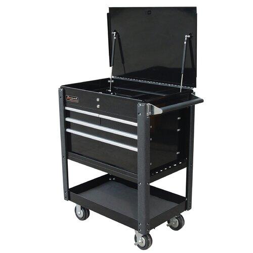 "Homak Professional 35"" Wide 4 Drawer Service Cart"