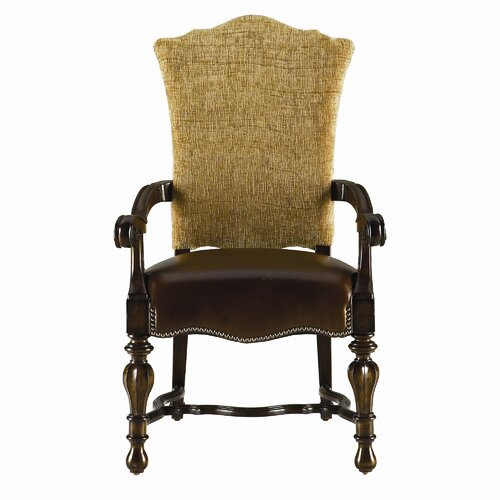 Stanley Furniture Grand Continental Padrona Leather Arm Chair