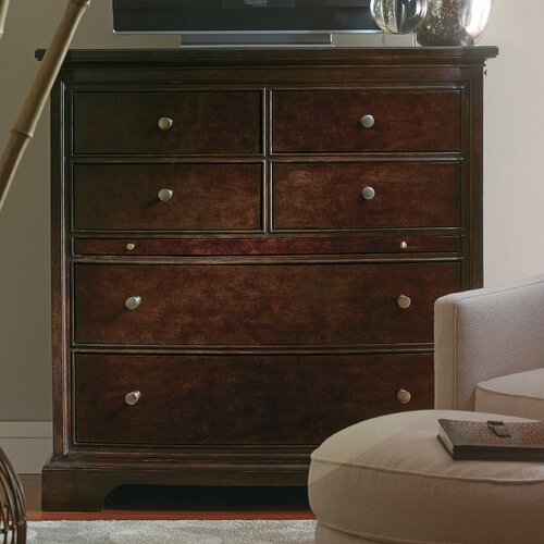 The Classic Portfolio Transitional 6 Drawer Media Chest