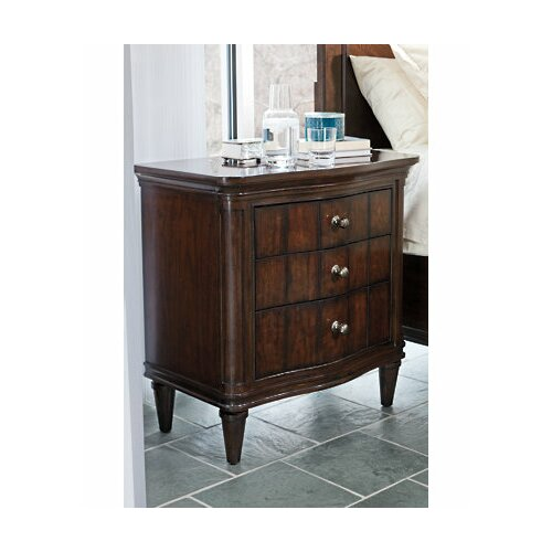 Stanley Furniture Avalon Heights Swingtime Serpentine 3 Drawer Nightstand