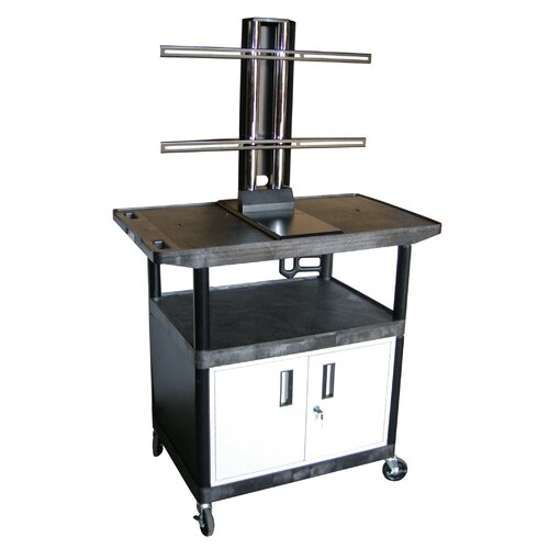 Luxor Mobile Plasma / LCD Stand AV Cart with Cabinet