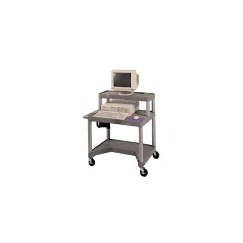"""Luxor 27"""" High Workstation with Leg Room Cut-Out and Monitor Platform"""