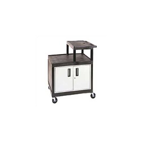 Luxor Stand-Up AV Cart for Large Overhead Projectors with Locking Cabinet