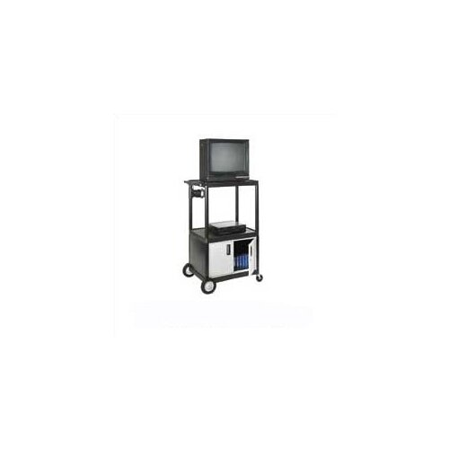 Luxor Open Shelf Endura Video Cart with Locking Cabinet
