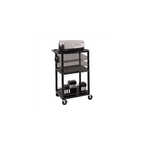 Luxor Open Shelf AV Cart
