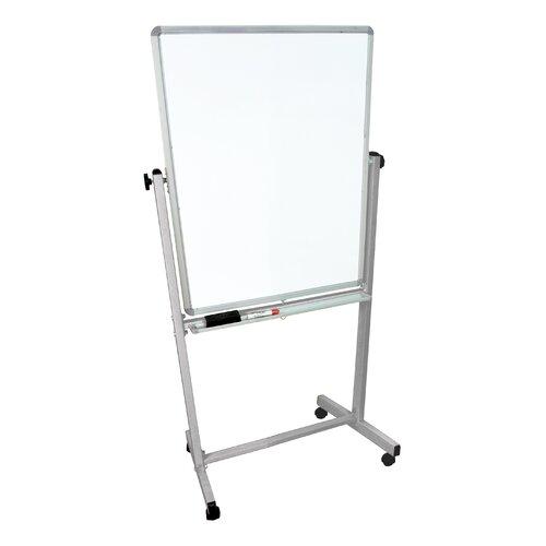 "Luxor Mobile 6' 8"" x 2' 5.88"" Whiteboard"