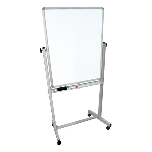 "Luxor Mobile 6' 8"" x 2' 5.88"" Whiteboard"