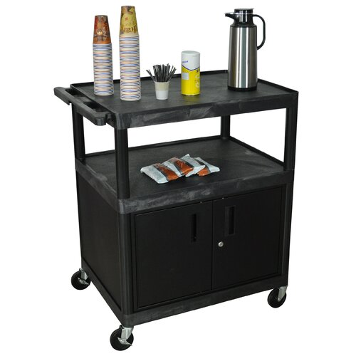 Large coffee cart with cabinet wayfair