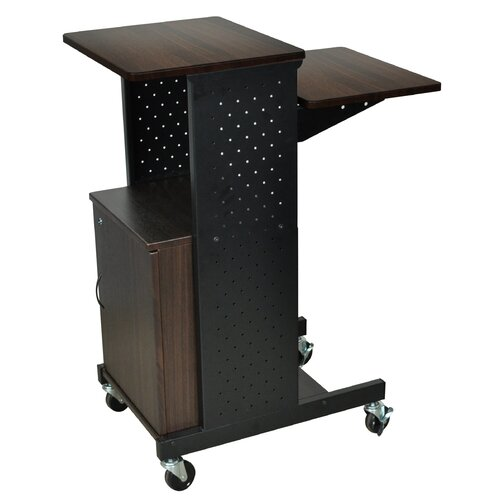 Luxor Mobile Presentation Station with Cabinet
