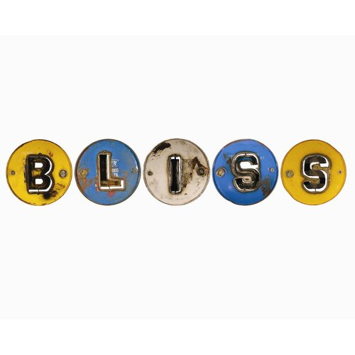 "Groovystuff 5 Piece Moonshine ""BLISS"" Letters Wall Décor Set"
