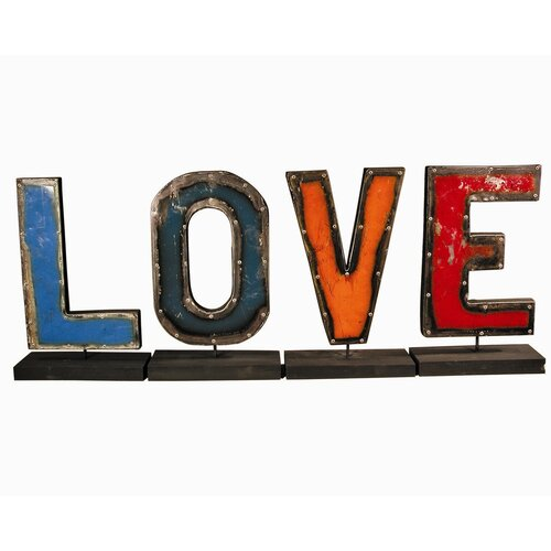 "Groovystuff Moonshine ""LOVE"" Letters on a Stand Figurine"