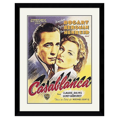 Amanti Art Casablanca Framed Vintage Advertisement