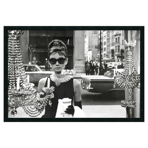 Amanti Art Audrey Hepburn - Breakfast at Tiffany's (Window) Framed Photographic Print