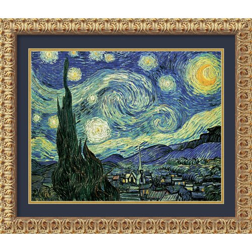 Amanti Art 'The Starry Night' by Vincent Van Gogh Framed Painting Print