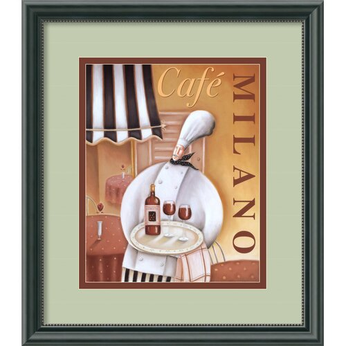 Amanti Art 'Cafe Milano' by Jo Parry Framed Vintage Advertisement