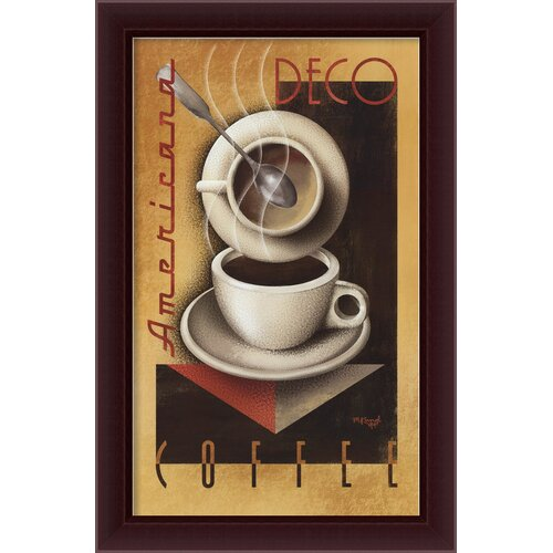 Amanti Art 'Americana Deco Coffee' by Michael Kungl Framed Vintage Advertisement