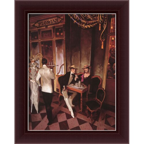 'Cafe Florian' by Juarez Machado Framed Painting Print