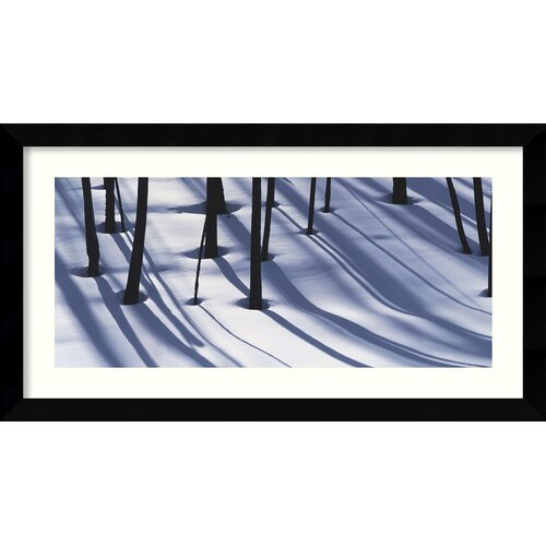 'Burnt Trees and Shadows on Snow' by William Neill Framed Photographic Print
