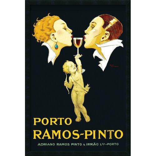 Amanti Art 'Porto Ramos-Pinto' by Rene Vincent Framed Vintage Advertisement