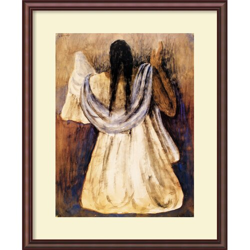 Amanti Art 'Woman from Tehautepec' by Rufino Tamayo Framed Painting Print