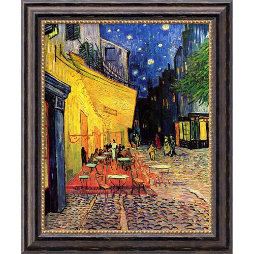Amanti Art 'Cafe Terrace at Night' by Vincent Van Gogh Framed Painting Print