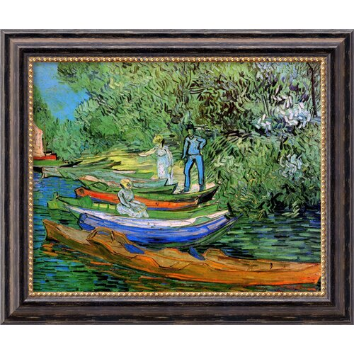 'Bank of the Oise at Auvers' by Vincent Van Gogh Framed Painting Print