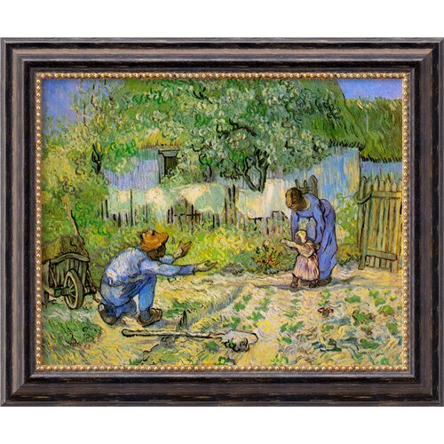 'First Steps' by Vincent Van Gogh Framed Painting Print