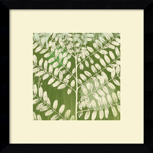 Amanti Art 'Forest Leaves' by Erin Clark Framed Painting Print