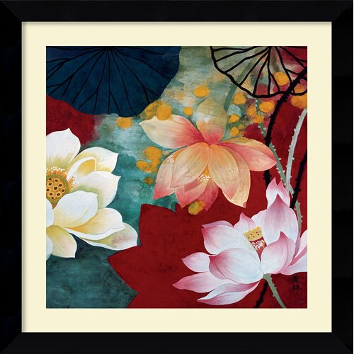 'Lotus Dream I' by Hong Mi Lim Framed Painting Print