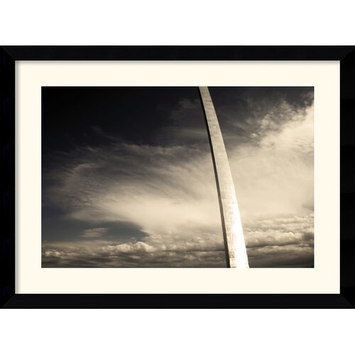 Amanti Art 'Gateway Arch (Sepia)' by Andy Magee Framed Photographic Print