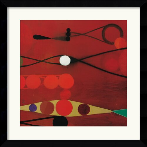 Amanti Art 'Red Seed #34' by Bill Mead Framed Graphic Art