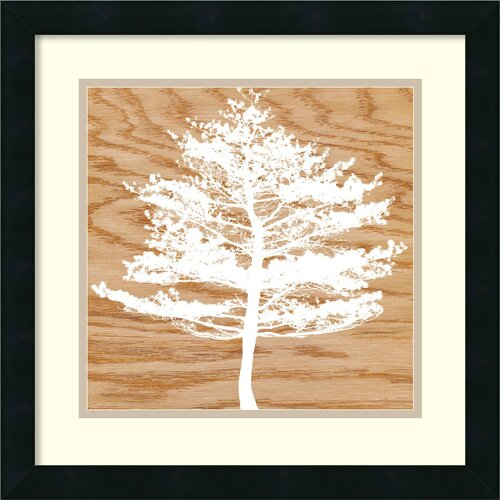 Amanti Art 'Frosty Tree' by Erin Clark Framed Graphic Art