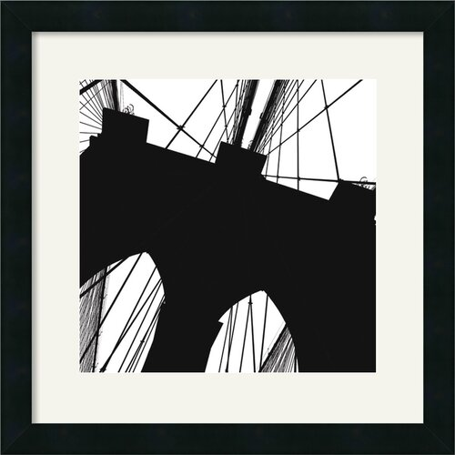 'Brooklyn Bridge Silhouette (Detail)' by Erin Clark Framed Graphic Art