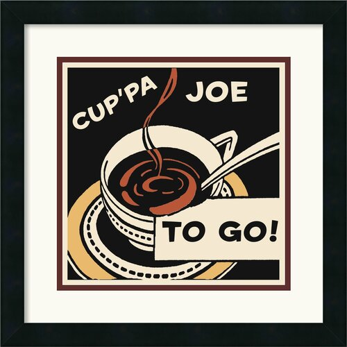 Amanti Art 'Cup'Pa Joe to Go' by Retro Series Framed Vintage Advertisement