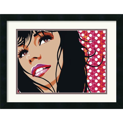 Amanti Art 'The Smile' by Mandy Reinmuth Framed Graphic Art