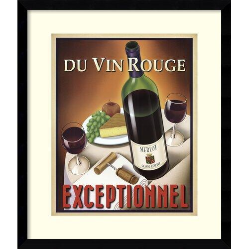 Amanti Art 'Du Vin Rouge Exceptionnel' by Steve Forney Framed Vintage Advertisement